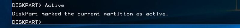 diskpart-active-partition