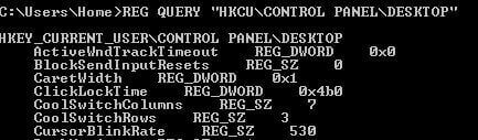 REG QUERY HKCU CONTROL PANEL DESKTOP